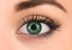 Pretty Eyes kleurlenzen - groen - 2 stuks - maandlenzen