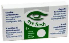 Eye Fresh zachte maandlenzen -1.25 - 6 stuks - Contactlenzen