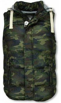Afbeelding van Vest Yole Bodywarmer Heren - Camouflage Vest Capuchon