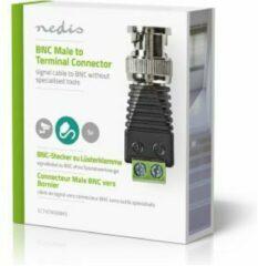 Zwarte Nedis - Nedis CCTVCM30BK5 Cctv-beveiligingsconnector 5x 2-aderige Naar Bnc Male - 30 Dagen Niet Goed Geld Terug