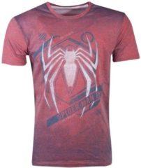 Rode Marvel Spiderman - Acid Wash Spider Men's T-shirt - XL MERCHANDISE