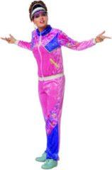 Feestbeest.nl Trainingspakken | Jogging 80s Pink Trainer | Vrouw | Maat 42 | Carnaval kostuum | Verkleedkleding