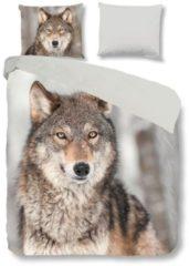 Renforcé Wendebettwäsche Wolf Traumschlaf grau