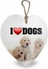 Witte Miko Hartje I love dogs