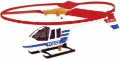 Günther helikopter Police junior 27 cm rood/wit/blauw 2-delig