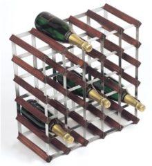 Donkerbruine RTA Wijnrek van hout voor 30 flessen