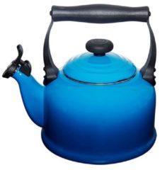 Blauwe Le Creuset Tradition fluitketel - 2,1 liter - marseilleblauw