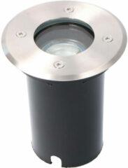 Roestvrijstalen BES LED LED Grondspot - Sanola Aton - Inbouw - Rond - GU10 Fitting - Waterdicht IP67 - RVS Geborsteld