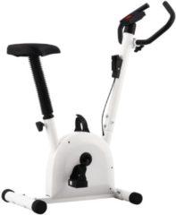 VidaXL Hometrainer met bandweerstand wit