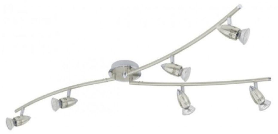Afbeelding van Roestvrijstalen EGLO Magnum - Plafondspots - 6 Lichts - LED - Nikkel-Mat, Chroom