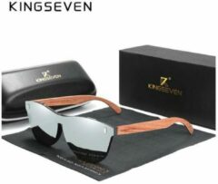 KingSeven - Grey Oculos Bamboo UV400 en Polarisatie Filter