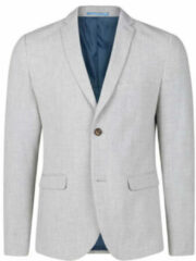 Licht-grijze WE Fashion Heren slim fit blazer Dali - Maat XS (42)
