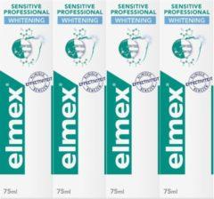 Elmex Sensitive Professional Gentle Whitening Tandpasta 4 x 75ml - Voordeelverpakking