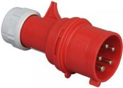 Rode Kopp stekker 5-polig 16A 400v CEE