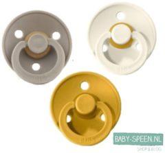 Bibs Fopspeen 3 stuks 0-6 maanden | Oker Geel, Dark Oak, Ivory Crème White