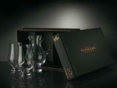 Transparante Glencairn Crystal Glencairn Waterkaraf en 2x Whiskyglas | Kristal | Handgemaakt in Schotland | Geschenkverpakking