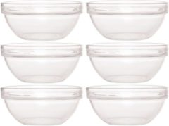 Transparante Luminarc 6x Glazen schaaltje/kommetje 17 cm - Snacks serveren - Schaaltjes/kommetjes van glas - Keukenbenodigdheden