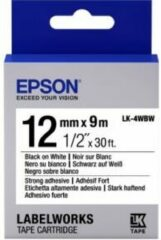 Witte Epson Strong Adhesive Tape - LK-4WBW Strng adh Blk/Wht 12/9
