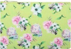 Groene Yehwang Trendy Make-up / clutch tasje met een bloemenprint - van binnen gevoerd en een ruim vak - het handige tasje wordt afgesloten met een rits - voor uzelf of Bestel Een Kado