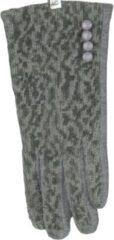 Licht-grijze ECgloves Handschoenen dames met touchscreen