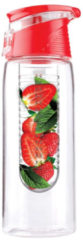 Asobu Flavour It 2 Go Drinkbeker - Incl. Fruitinfuser - 600 ml - Rood