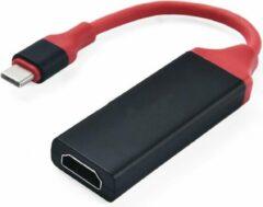 TrendParts USB-C (Type-C) naar HDMI 4K x 2K Adapter Kabel | Zwart / Rood | Premium kwaliteit