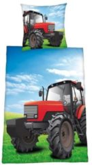 Young Collection Tractor flanel dekbedovertrek Multi 1-persoons (140x200 cm + 1 sloop) (multiple tractors)
