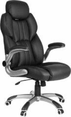 Songmics Luxe Bureaustoel - Verstelbare hoofdsteun - Zwart