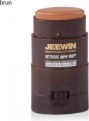 JEEWIN Technical Sportscare JEEWIN JEEWIN Sunblock Stick SPF 50 - BRUIN | ook geschikt voor bescherming tattoo
