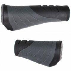 Grijze Contec Tour Pro Fietshandvatten Vleugelvormig Inclusief stuurdoppen - Extra Grip