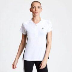 Dare 2b - Women's Outdare Half Zip Cycling Jersey - Outdoorshirt - Vrouwen - Maat 36 - Wit