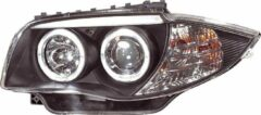 Universeel Set Koplampen BMW 1-Serie E81/E87 2004-2011 - Zwart - incl. Angel-Eyes