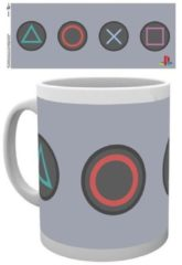 Witte Sony Merchandising PLAYSTATION - Mug - 300 ml - Buttons