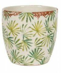 NDT International Pot Grenada Light groen M 18x16 cm lichtgroene palm ronde bloempot voor binnen