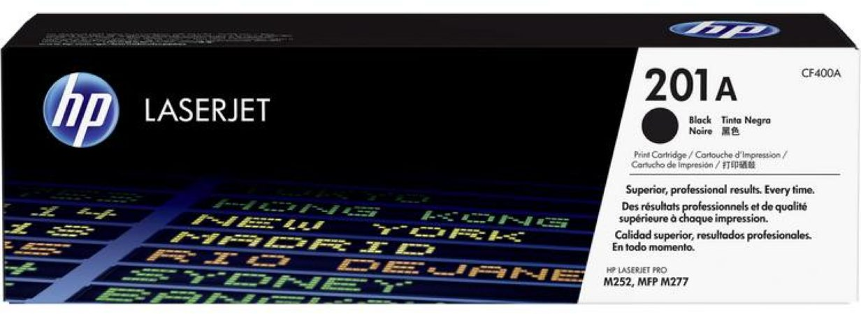 Afbeelding van HP 201A CF400A Tonercassette Zwart 1500 bladzijden Origineel Tonercassette