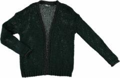 Zwarte Geisha 94507-10 590 vest with matching lurex bottle