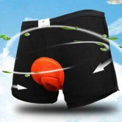 Oranje Falkann Fiets onderbroek met zeem - unisex-L