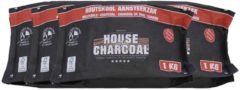 House of Charcoal Light the bag Houtskool FSC 1kg - 4 stuks