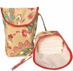 Rode Merkloos / Sans marque Opbergzakje Vintage opbergtasje voor natten dingen of stomabenodigdheden luierzakje wetbag