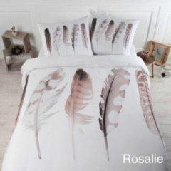 Papillon Rosalie - Dekbedovertrek - Tweepersoons - 200x200/220 cm + 2 kussenslopen 60x70 cm - Wit-Bruin