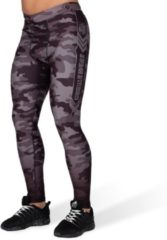 Gorilla Wear Franklin Tights - Zwart/Grijs Camo - 2XL