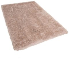 Beige Beliani Cide Vloerkleed Polyester 140 X 200 Cm