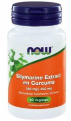 Now Foods Now Silymarine Extract 150 Mg En Curcuma 350 Mg Trio (3x 60vc)