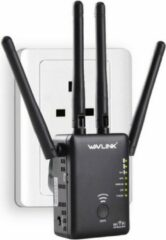 Zwarte WiFi Versterker - WiFi Repeater 866Mbps Router Access point Wireless Range Extender / Wavlink AC1200