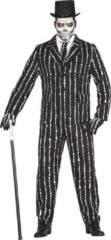 Zwarte Fiestas Guirca Verkleedpak Botten Patroon Heren Polyester Maat L