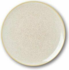 Sanodegusto Verwarmde borden set met technologie – 4delig servies in porselein – Ø 27 cm – Crema kleur – voor alle gerechten – 4 stuks