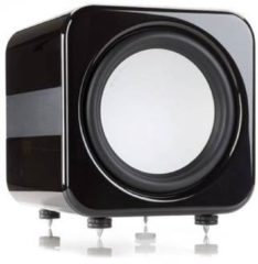 Zwarte Eve Audio Monitor Audio AW12 subwoofer 500 W Actieve subwoofer