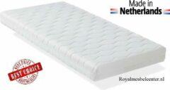 Witte Zachte Ledikant Matras 90x200x14 cm Comfort schuim met anti-allergische wasbare hoes. Royalmeubelcenter.nl ®