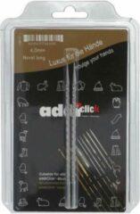 Zilveren Addi Click Novel Long Verwisselbare Punten Vierkant 4.5 mm
