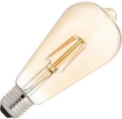 Bailey dag/nacht sensorlamp Edison LED filament 4W (vervangt 30W) grote fitting E27 goud